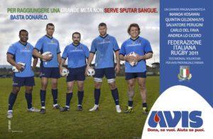 Campagna AVIS Parma con Nazionale italiana Rugby