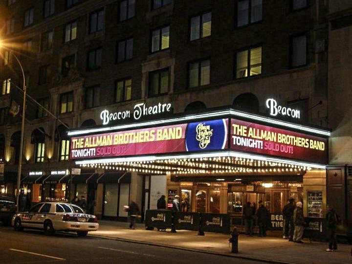 l'ingresso del Beacon Theatre a NYC per il concerto dell'Allman Brothers Band